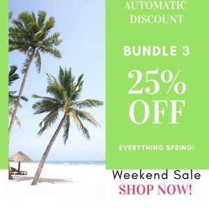 Other - Weekend Sale! Auto Discount 25% off bundle 3